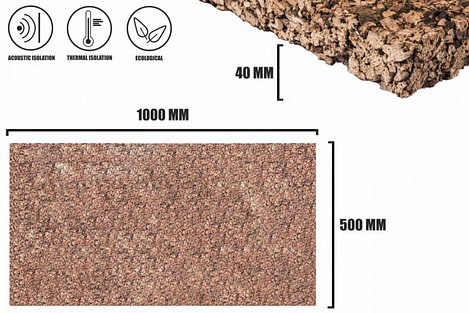 Expanded cork 40mm