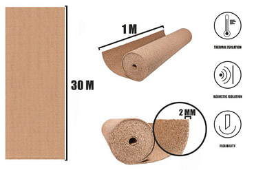 Cork roll 2mm (30m)