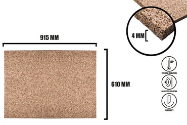 Cork sheet 4mm