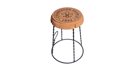 Stool from natural cork